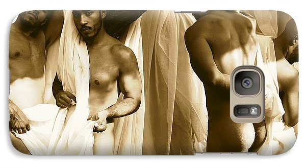 Galaxy Case featuring the photograph All Of Me Sepia by Robert D McBain