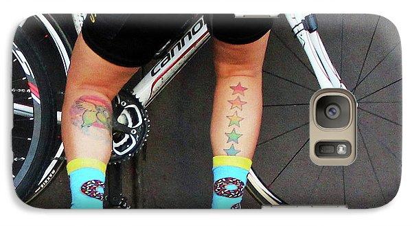 Galaxy Case featuring the photograph All Star Cyclist by Joe Jake Pratt