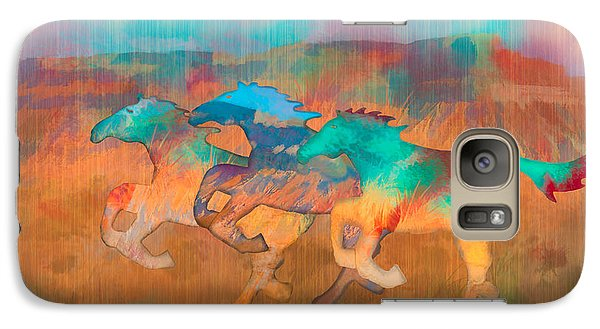 Galaxy Case featuring the digital art All The Pretty Horses by Christina Lihani