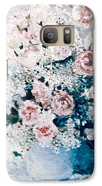 Galaxy Case featuring the painting All White by Sorin Apostolescu