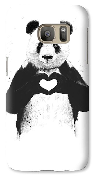 Animals Galaxy S7 Case - All You Need Is Love by Balazs Solti