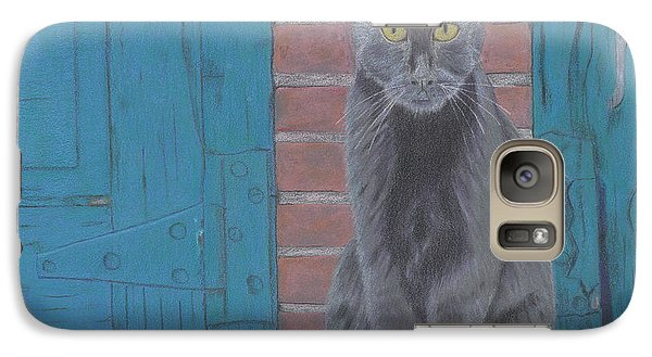 Galaxy Case featuring the drawing Alley Cat by Arlene Crafton
