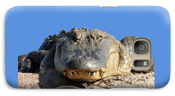 Galaxy Case featuring the photograph Alligator Approach .png by Al Powell Photography USA