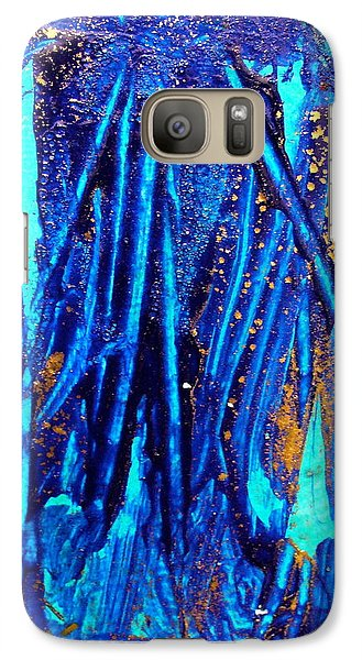 Galaxy Case featuring the painting Alll That Glitters by Mary Sullivan
