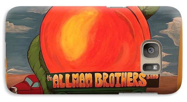 Peach Galaxy S7 Case - Allman Brothers Eat A Peach by Wes Beaver