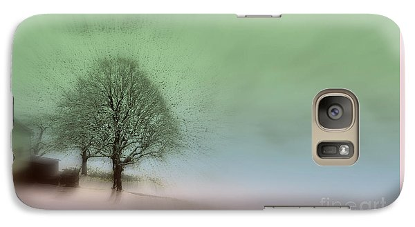 Galaxy Case featuring the photograph Almost A Dream - Winter In Switzerland by Susanne Van Hulst