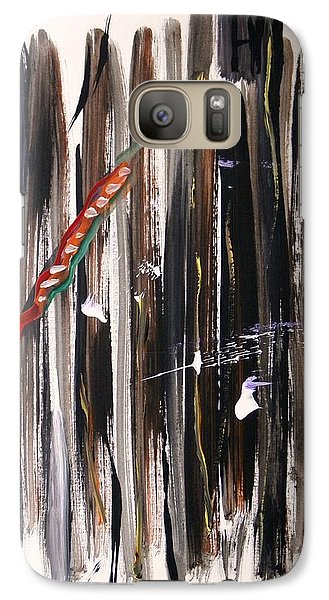Galaxy Case featuring the painting Almost Vertical by Mary Carol Williams