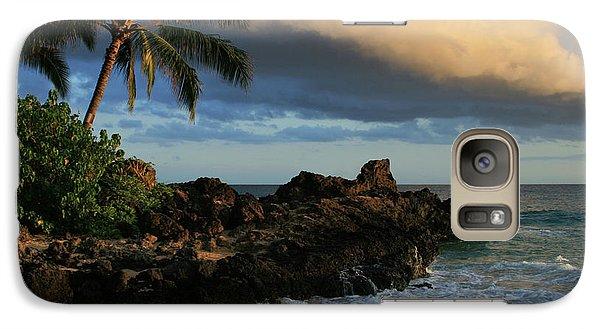 Aloha Naau Sunset Paako Beach Honuaula Makena Maui Hawaii Galaxy S7 Case by Sharon Mau