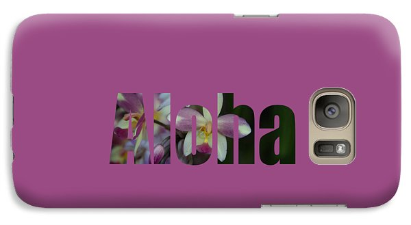 Galaxy Case featuring the photograph Aloha Orchids Type by Kerri Ligatich