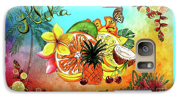 Galaxy Case featuring the digital art Aloha Tropical Fruits By Kaye Menner by Kaye Menner