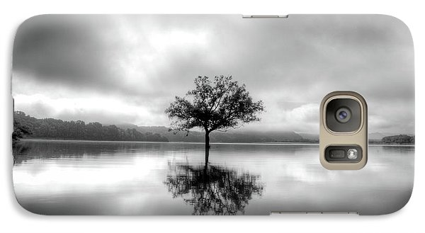 Galaxy Case featuring the photograph Alone Bw by Douglas Stucky