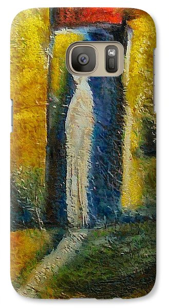 Galaxy Case featuring the mixed media Alone by Dragica  Micki Fortuna