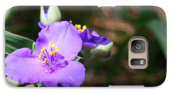 Galaxy Case featuring the photograph Alone In The Garden by Linda Mesibov