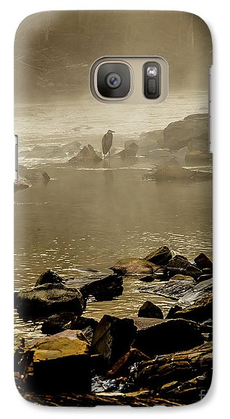 Galaxy Case featuring the photograph Alone In The Mist by Iris Greenwell