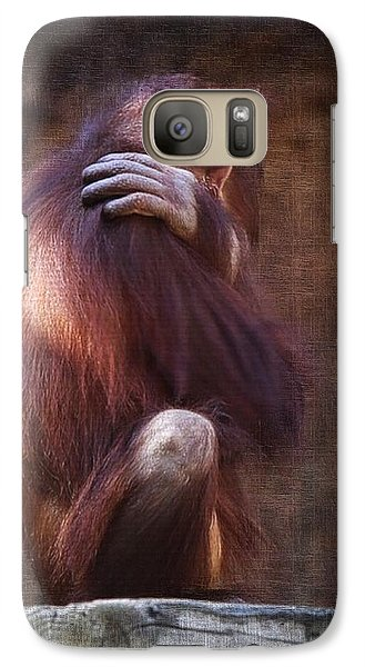 Galaxy Case featuring the photograph Alone by Sharon Jones