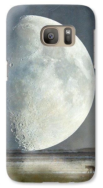 Galaxy Case featuring the photograph Alone With The Moon by Angie Vogel