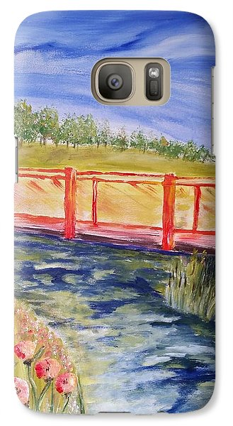 Galaxy Case featuring the painting Along The Greenbelt by Carol Duarte