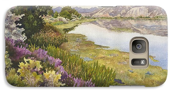 Galaxy Case featuring the painting Along The Oregon Trail by Anne Gifford