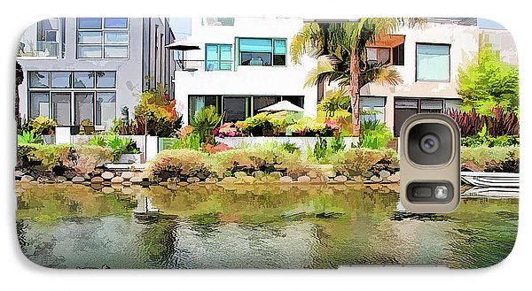 Galaxy Case featuring the photograph Along The Venice Canals by Chuck Staley