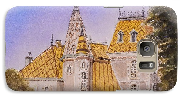 Galaxy Case featuring the painting Aloxe Corton Chateau Jaune by Mary Ellen Mueller Legault