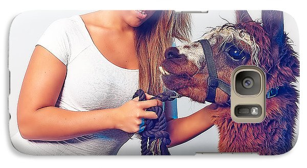 Alpaca Mr. Tex And Breanna Galaxy S7 Case by TC Morgan