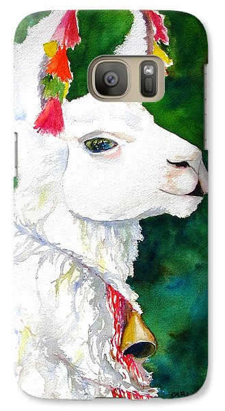 Llama Galaxy S7 Case - Alpaca With Attitude by Carlin Blahnik CarlinArtWatercolor
