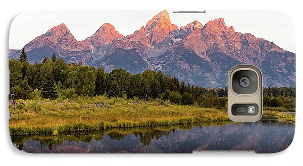 Galaxy Case featuring the photograph Alpen Glow by Mary Hone