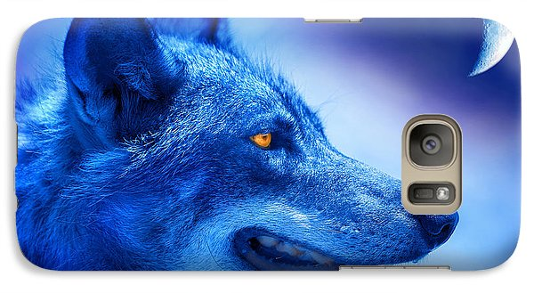 Alpha Wolf Galaxy Case by Mal Bray