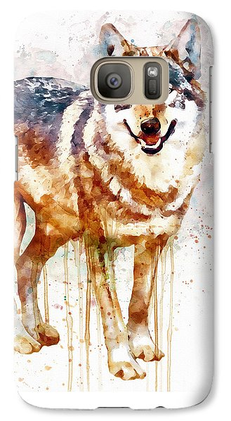 Alpha Wolf Galaxy S7 Case by Marian Voicu