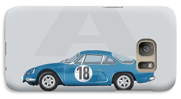 Galaxy Case featuring the mixed media Alpine A110 by TortureLord Art