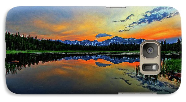 Galaxy Case featuring the photograph Alpine Lake Glow by Scott Mahon