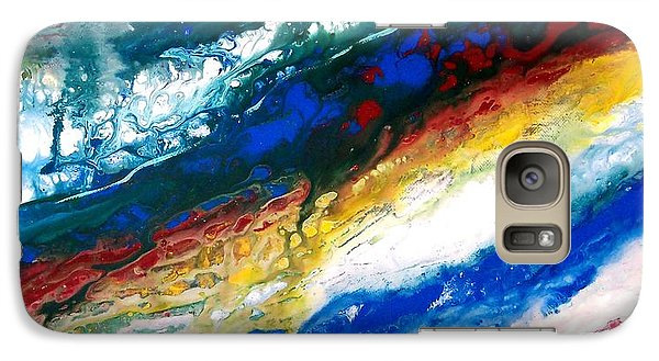 Galaxy Case featuring the painting Alpine River Run by Patricia L Davidson