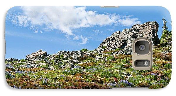 Galaxy Case featuring the photograph Alpine Rock Garden by Jeff Goulden