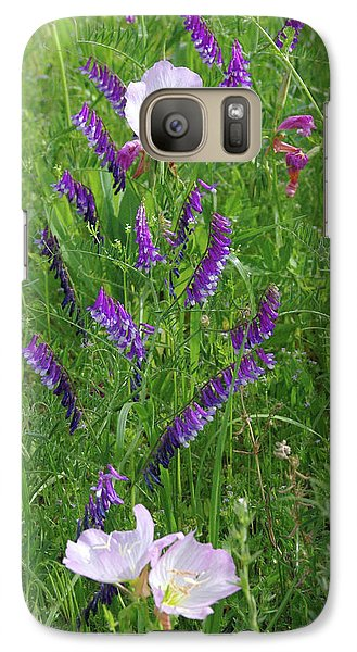 Galaxy Case featuring the photograph Alpine Vetch And Primroses by Robyn Stacey