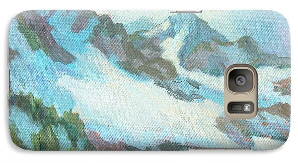 Galaxy Case featuring the painting Alps In Switzerland by Diane McClary