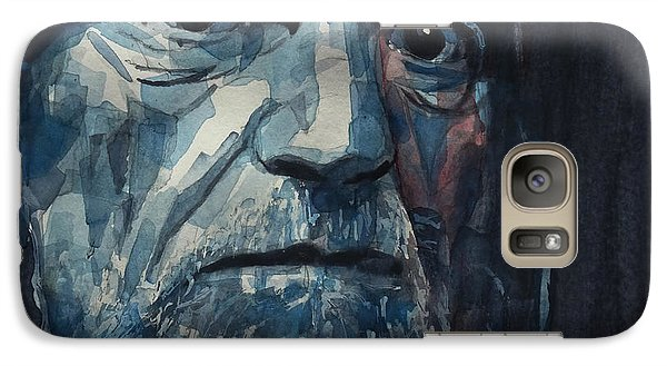 Galaxy Case featuring the painting Always On My Mind - Willie Nelson  by Paul Lovering