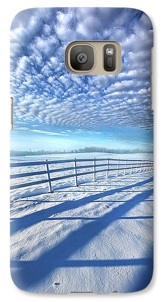 Galaxy Case featuring the photograph Always Whiter On The Other Side Of The Fence by Phil Koch