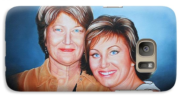 Galaxy Case featuring the painting Amanda And Mom by Mike Ivey