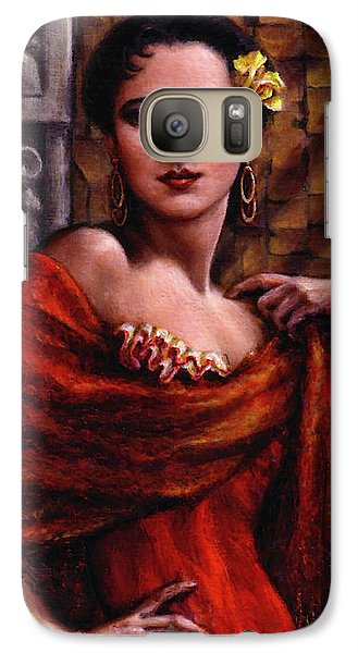 Galaxy Case featuring the painting Amarillo Rose by Jane Bucci
