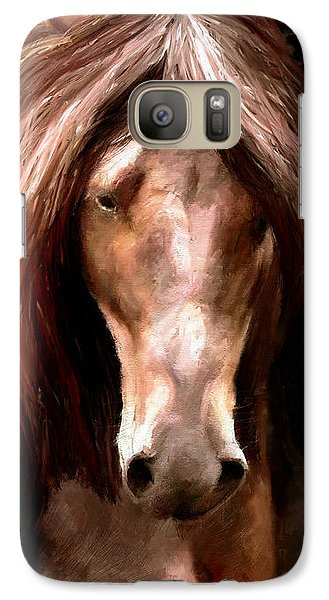Galaxy Case featuring the painting Amazing Horse by James Shepherd