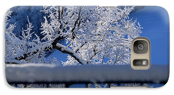 Galaxy Case featuring the photograph Amazing - Winterwonderland In Switzerland by Susanne Van Hulst