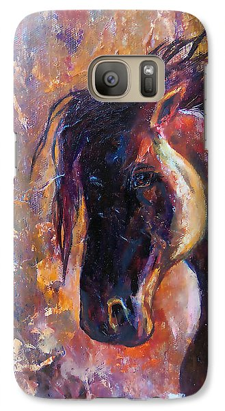 Galaxy Case featuring the painting Amber Dawn by Karen Kennedy Chatham