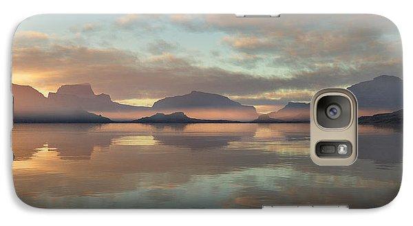 Galaxy Case featuring the digital art Salmon Lake Sunrise by Mark Greenberg