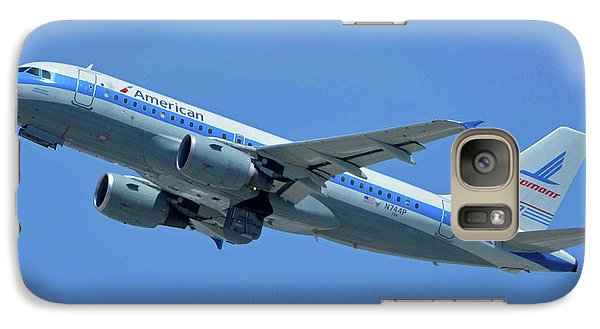 Galaxy Case featuring the photograph American Airbus A319-0112 N744p Piedmont Pacemaker Los Angeles International Airport May 3 20 by Brian Lockett