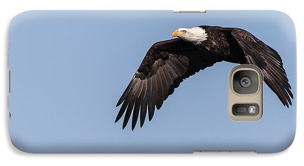 Galaxy Case featuring the photograph American Bald Eagle 2017-14 by Thomas Young