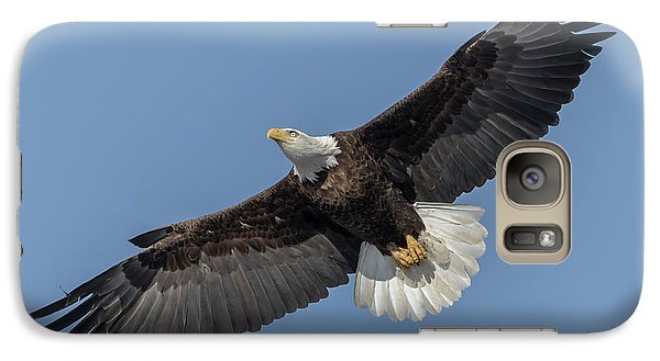 Galaxy Case featuring the photograph American Bald Eagle 2017-18 by Thomas Young