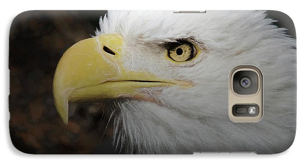 Galaxy Case featuring the digital art American Bald Eagle Portrait 2 by Ernie Echols