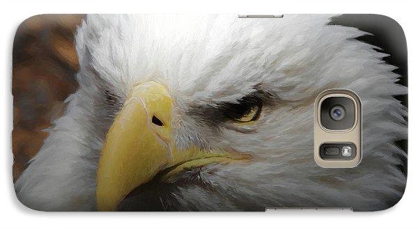 Galaxy Case featuring the digital art American Bald Eagle Portrait 3 by Ernie Echols