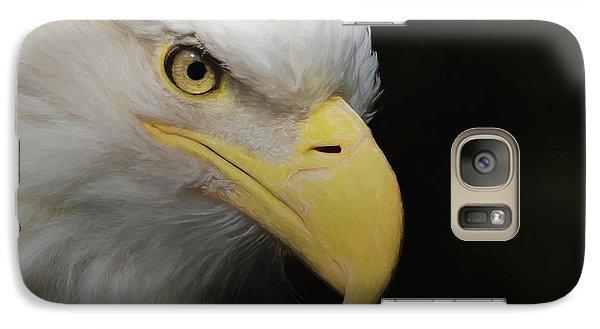Galaxy Case featuring the digital art American Bald Eagle Portrait 4 by Ernie Echols