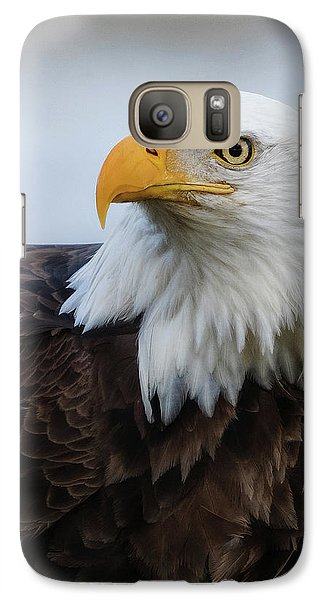 Galaxy Case featuring the photograph American Bald Eagle Portrait by Angie Vogel